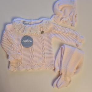 Juliana 3pce knitted set pink