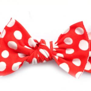 Little bow pip - Minnie print pippa bow