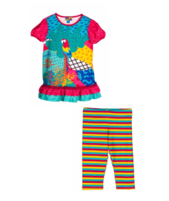 Rosalita senorita amity t-shirt and pattern leggings