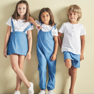 Babidu dungaree and t-shirt set