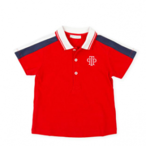 Tutto piccolo short sleeve polo shirt - red