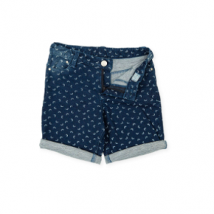 Tutto piccolo pattern shorts navy blue