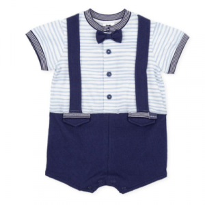 Tutto Piccolo Short All in one with dickie bow and braces