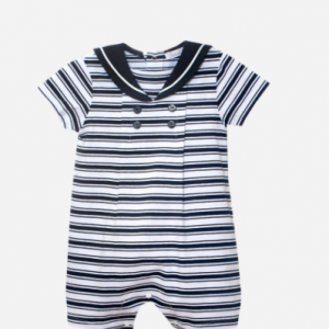 Patachou Baby boy Sailor romper navy and white