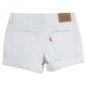 Levi's girlfriend shorty shorts white