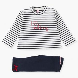 Losan nautical i love sailing baby girl legging set