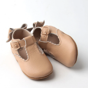 Dainty bear soft leather prewalkers coffee