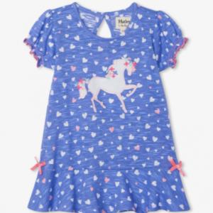 Hatley fancy unicorn baby flounce hem dress