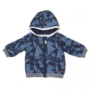 Babybol nautical navy wind stopper with hood and zip