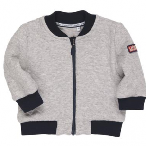 Gymo grey and navy boys bomber jacket