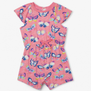Hatley butterfly party baby layered romper