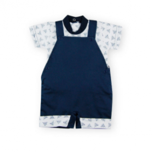 Sardon dungaree and T-shirt set - navy