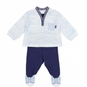 Tutto piccolo boys 2 piece navy and blue set
