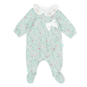 Tutto piccolo floral babygow for baby girl, gift box.