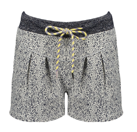 Nono animal print shorts with rope belt