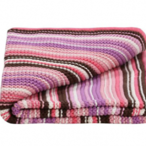 lILLY & SID KNITTED BLANKET