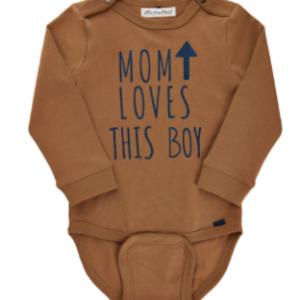 ORGANIC COTTON BODYSUIT MOM LOVES THIS BOY