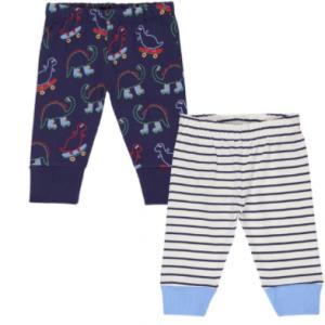 Lilly & Sid organic cotton 2pk legging set