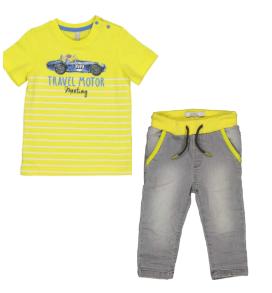 boys crew t-shirt and denim pants