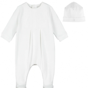 Emile et rose mallory unisex babygrow and hat from our timeless collection