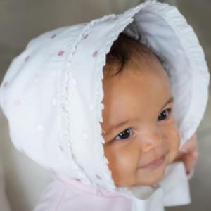 Emile et rose waiva baby bonnet