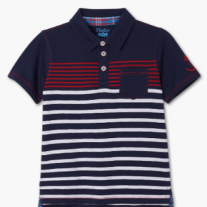 Hatley cool nautical navy striped polo shirt