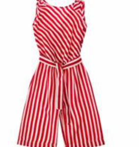 Ubs.2 girls red striped jumpsuit