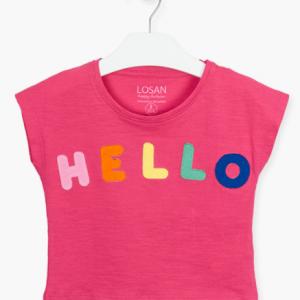 Losan hello short sleeve t-shirt pink