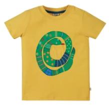 Frugi organic cotton applique t-shirt - bumble bee/snake