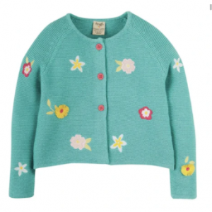 Frugi gots organic cotton emilia embroidered cardigan
