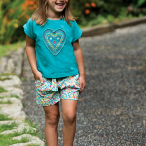Frugi gots organic cotton sopha slub t-shirt jewel/heart