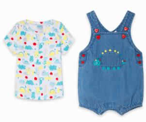 Tuc tuc denim overall and t-shirt set