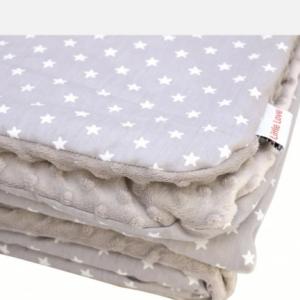 Little love blanket grey star 5 point