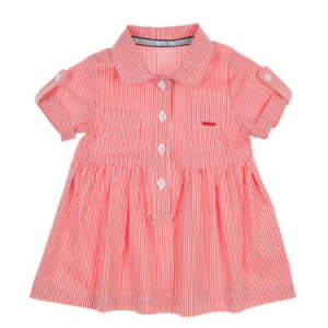 Gymp kids raspberry polo shirt dress