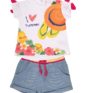 Minibol 2pce tshirt and short set