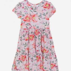 PATACHOU FLORAL PINK JERSEY DRESS