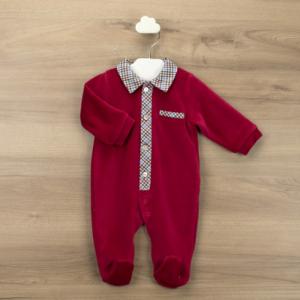 Babidu smart babygrow - red