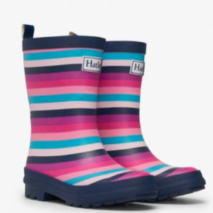 Hatley pretty stripes matte rain boots