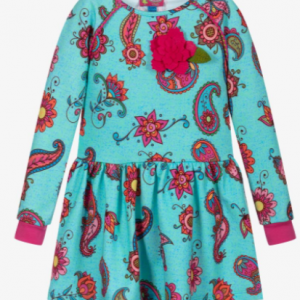 Rosalita Senoritas - Girls Blue Floral Jersey Dress   Childrensalon Rosalita Senoritas - Girls Blue Floral Jersey Dress   Childrensalon Rosalita Senoritas Girls Blue Floral Jersey Dress Product number 403528 £60.00 Select Size Help with size Aqua blue dress for girls, by Rosalita Senoritas. Made from soft cotton jersey, it has a pretty pink abstract floral print with pink ribbed cuffs, and a gorgeous pink appliqué on the front