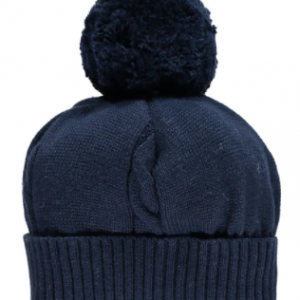 A true favourite and a 'must have' for chilly winter days - this bobble hat has a turn-back rib and cable knit feature. The hat is a perfect match for all navy Emile et Rose garments.
