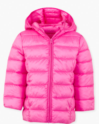 Losan quilted light weight coat - pink