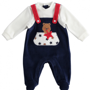 I do all in one babygrow with fake dungaree look. presented in gift box