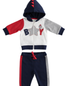 I Do two piece jogger set with hood