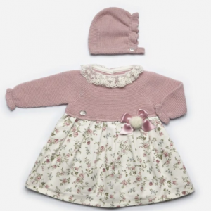 Juliana pink floral knitted dress
