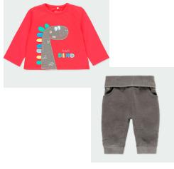 Boboli dino long sleeve top and soft trouser