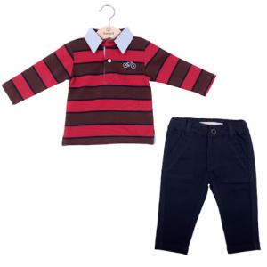 Babybol 2pce polo shirt and chino set