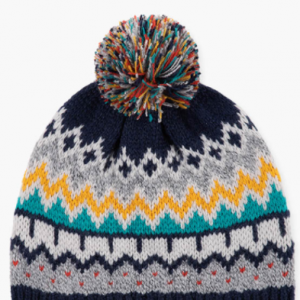 Rainbow hat with pompom