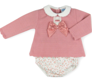 Baby girl's long sleeve jumper and floral bloomers