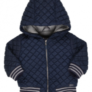 Gymp quilted padded jacket with grey trim and hood