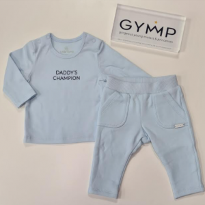 Gymp daddy's champion baby blue jogger set